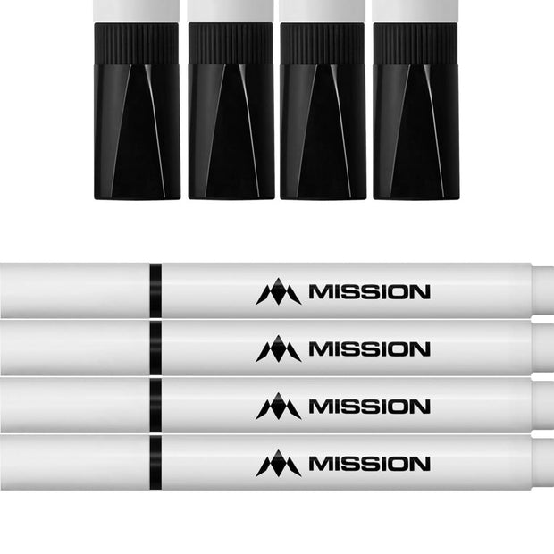 Scoreboards Mission Dry Wipe Whiteboard Marker pens Black