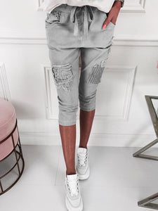 Ripped Paneled Plus Size Shorts Pants