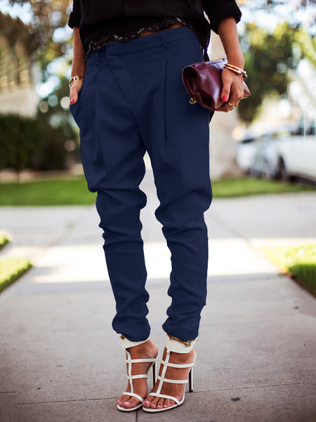 Casual Solid Harem Pants