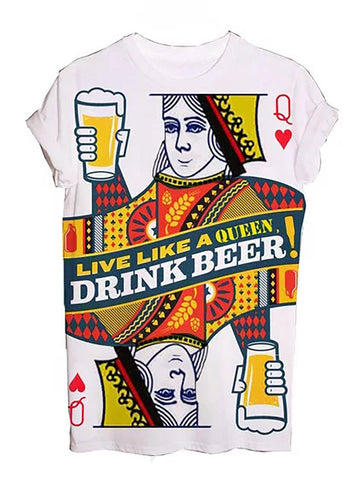 Drink Like A Queen Graphic Tees