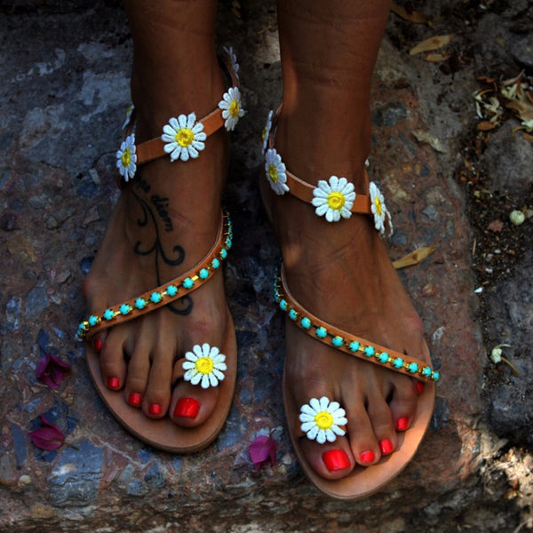 Casual Flora Plus Size Boho Sandals