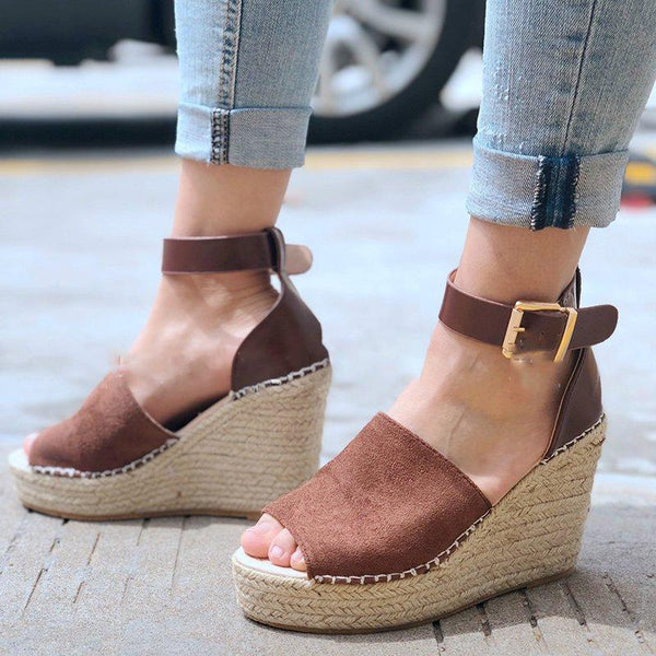 Daily Artificial Pu Wedge Heel Sandals