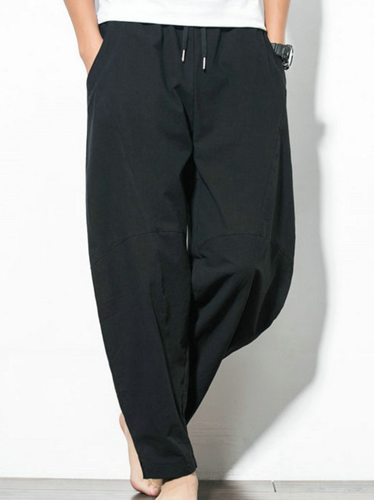 Pockets Solid Pants