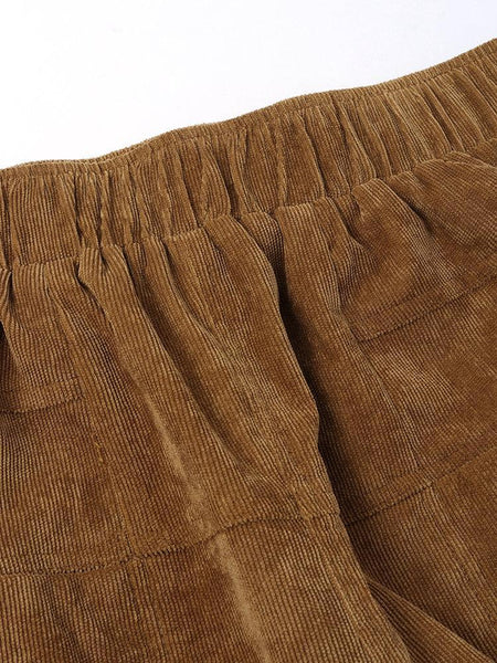 Pockets Casual Corduroy Bottoms