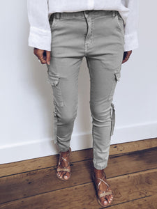 Casual Solid Buttoned Pants