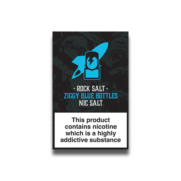 Rock Salt -  Ziggy Blue Bottles 10ml
