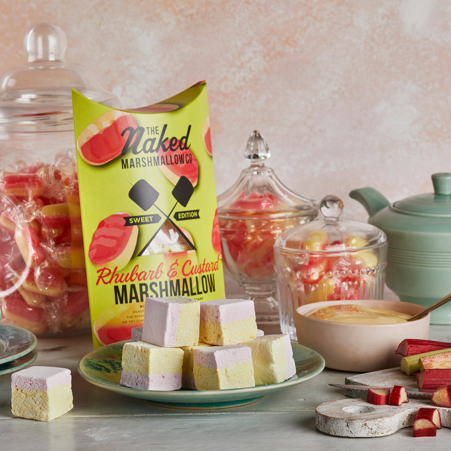 Rhubarb & Custard Gourmet Marshmallows