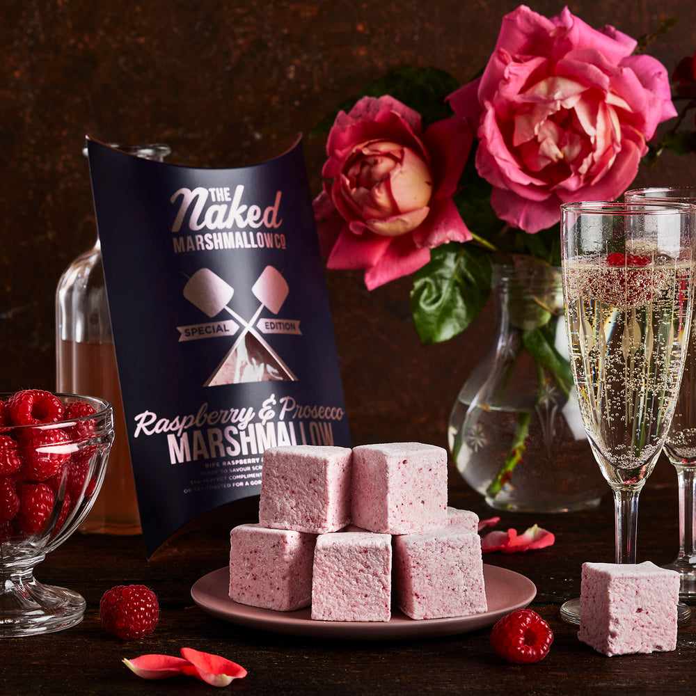 Raspberry & Prosecco Gourmet Marshmallows