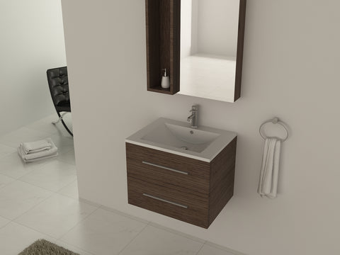 Frontline Aquatrend 600mm 2 Drawer Wall Hung Vanity Unit Gloss White Ref : CV29295/000-CV860