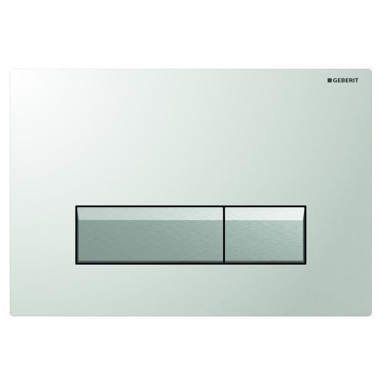 Geberit Sigma40 Glass Dual Flush Plate -  White