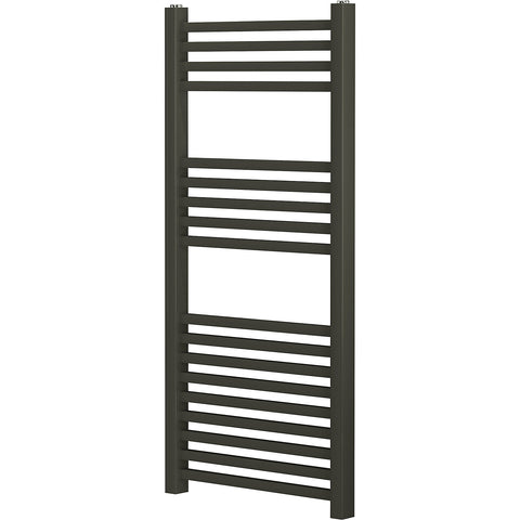Blyss Pentworth Anthracite Flat Towel Warmer (H)974mm (W)450mm