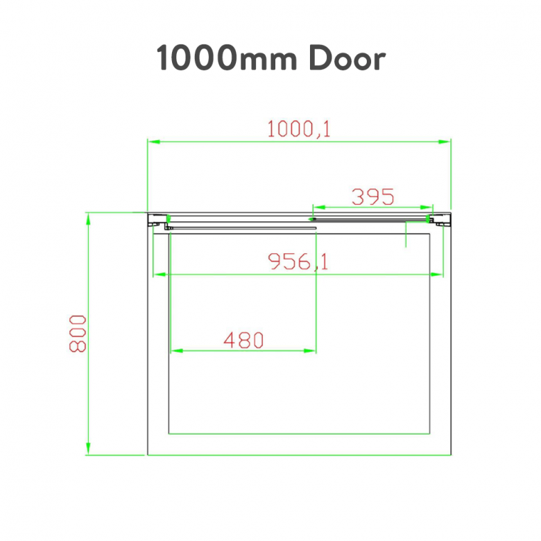 Eastbrook Volente Slider Door with Optional Side Panel