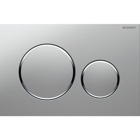 Geberit Sigma20 Dual Flush Plate - Brushed Stainless Steel