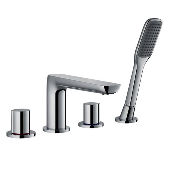 Flova Allore 4 Hole Bath Shower Mixer & Handset