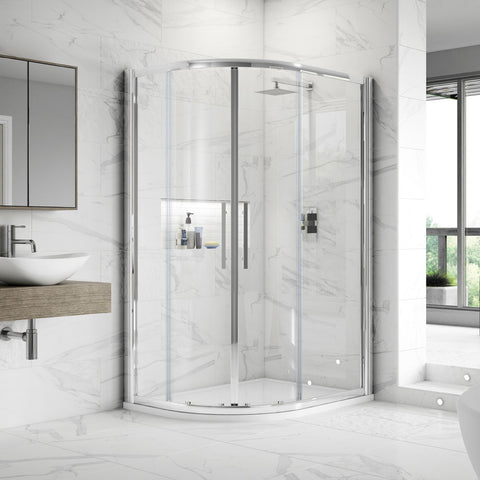 Hudson Reed Apex Offset Quadrant Shower Enclosure - Various Size Options