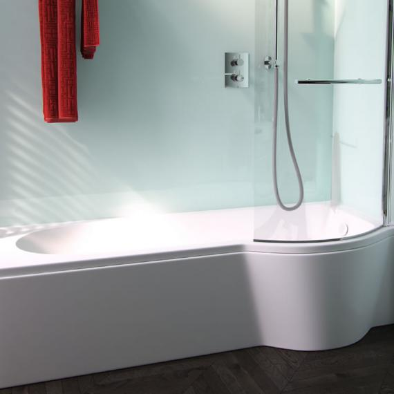 Pura Arco Eco 1700mm Left Hand Shower Bath