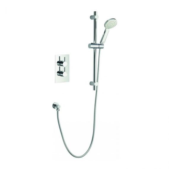 Pura Arco Single Outlet Thermostatic Shower Valve and Slide Rail Kit