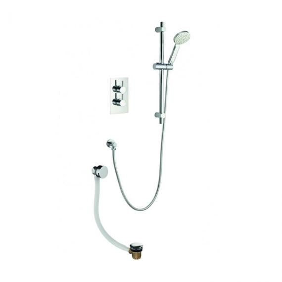 Pura Arco Two Way Diverter Valve with Slide Rail Kit and Bath Filler