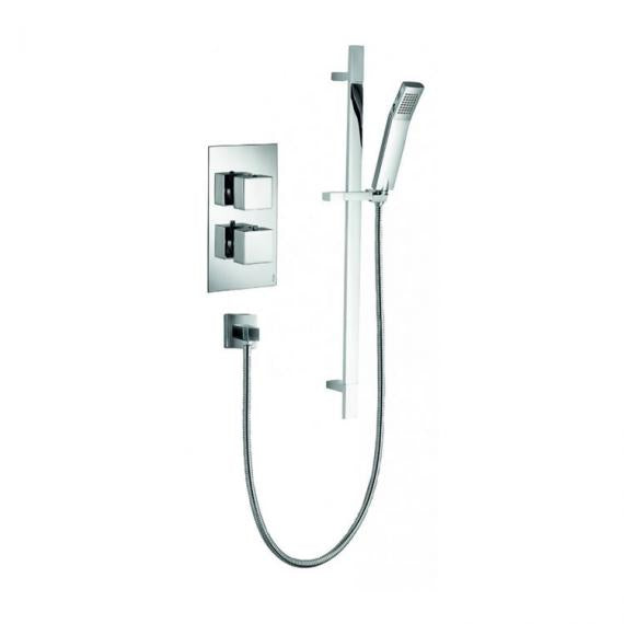 Pura Bloque2 Single Outlet Shower Valve with Slide Rail Kit