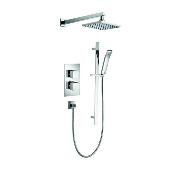 Pura Bloque2 Two Way Diverter Valve with Fixed Shower Head & Slide Rail Kit