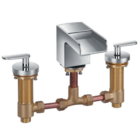 Flova Cascade 3 Hole Basin Mixer Inc Waste