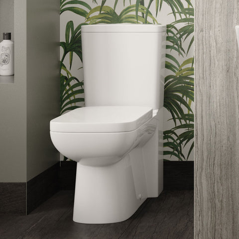 Hudson Reed Arlo Flush to Wall Toilet + Soft Close Seat