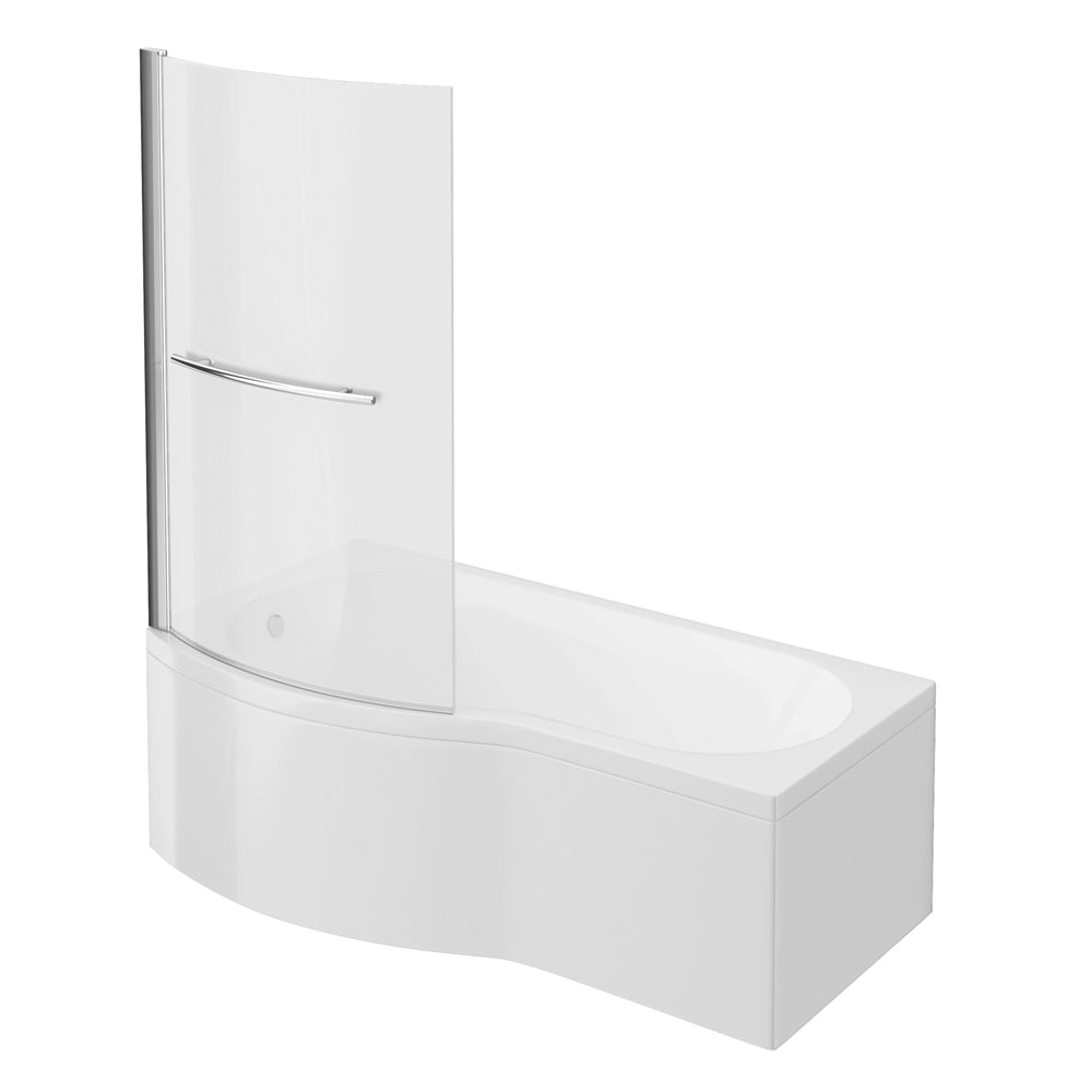 Cruze B Shaped Shower Bath - 1700mm Inc. Screen with Rail & Panel (L&R Hand)