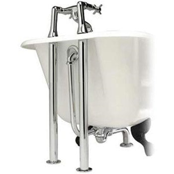 Hudson Reed Luxury Roll Top Bath Pack - Chrome - EA368