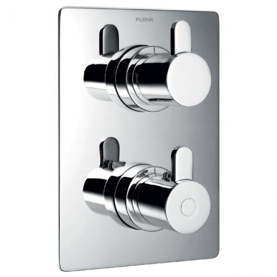 Flova Essence Thermostatic Shower Valve with 2 Way Diverter