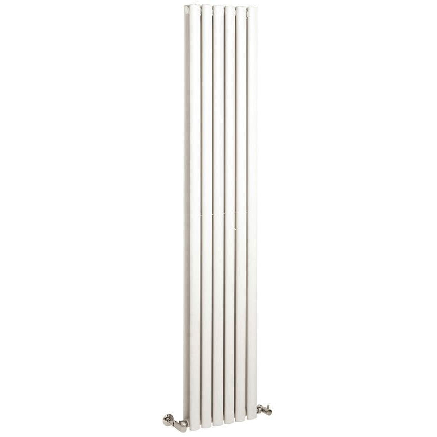 Hudson Reed Revive 1800 x 354mm Vertical Double Panel Designer Radiator - Gloss White - HL326