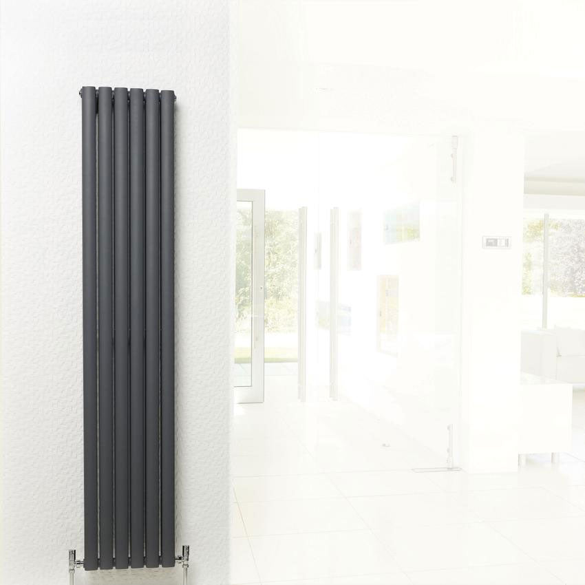 Hudson Reed Revive Double Panel Designer Radiator 1500 x 354mm - Anthracite - HLA76