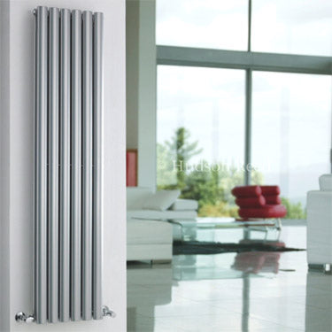 Hudson Reed Revive Double Panel Designer Radiator 1500 x 354mm - High Gloss Silver