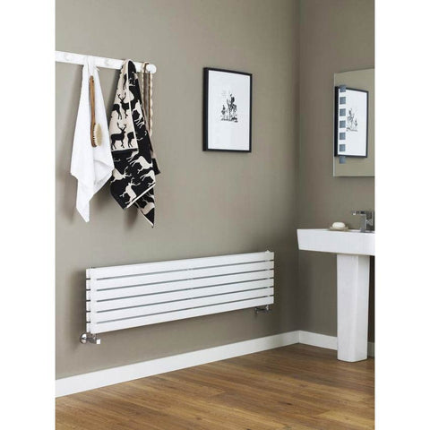 Hudson Reed Sloane Single Panel Designer Radiator 1500 x 354mm - White - HLW41
