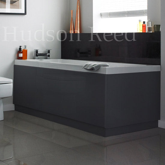 Hudson Reed High Gloss Grey Front Bath Panel