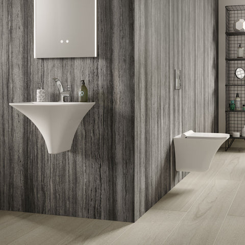 Hudson Reed Grace 1TH Wall Hung Suite (Rimless Toilet, Concealed Cistern + Basin)