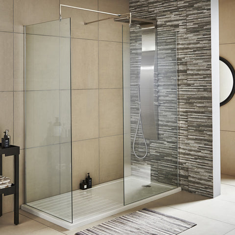 Hudson Reed 1950mm Wet Room Screen - Various Sizes