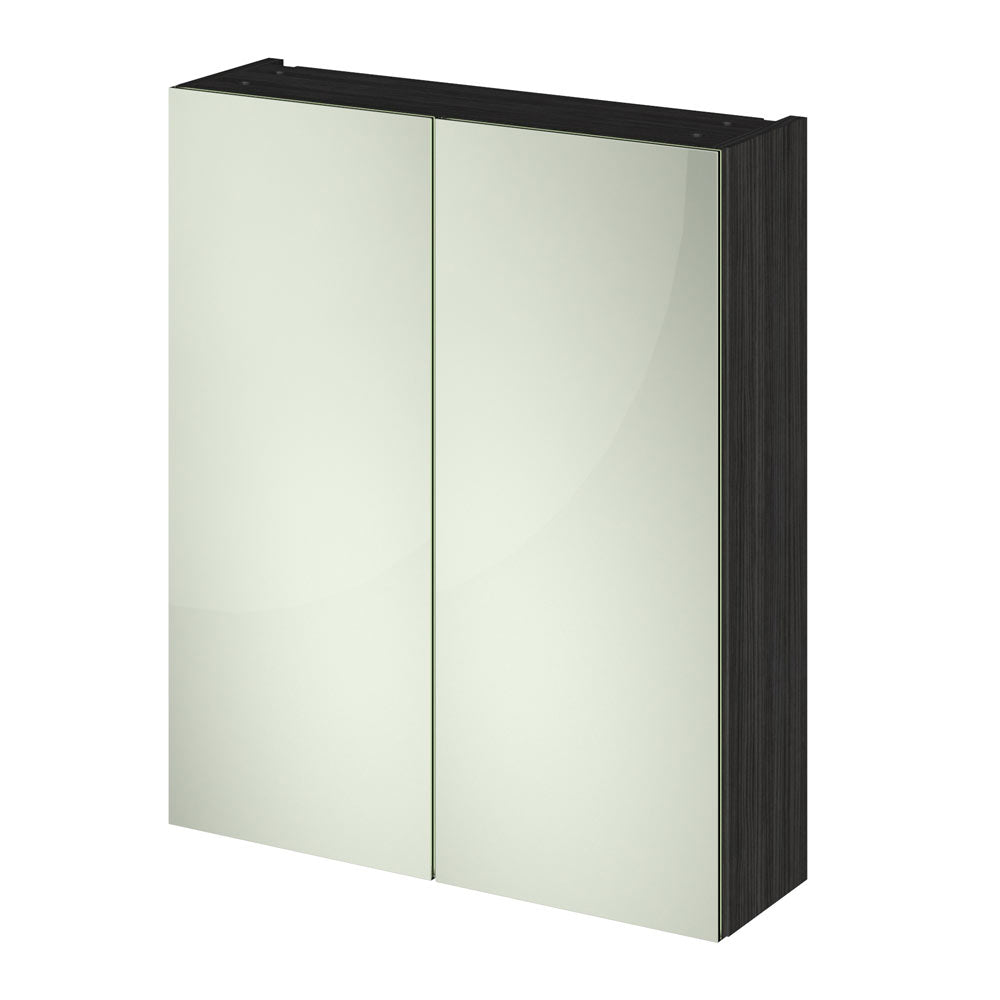 Hudson Reed 600mm Hacienda Black 50/50 Mirror Unit