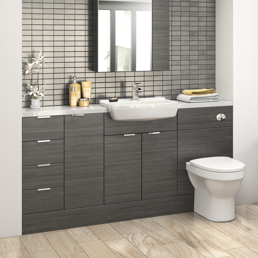 Hudson Reed 600x355mm Hacienda Black Full Depth Vanity Unit