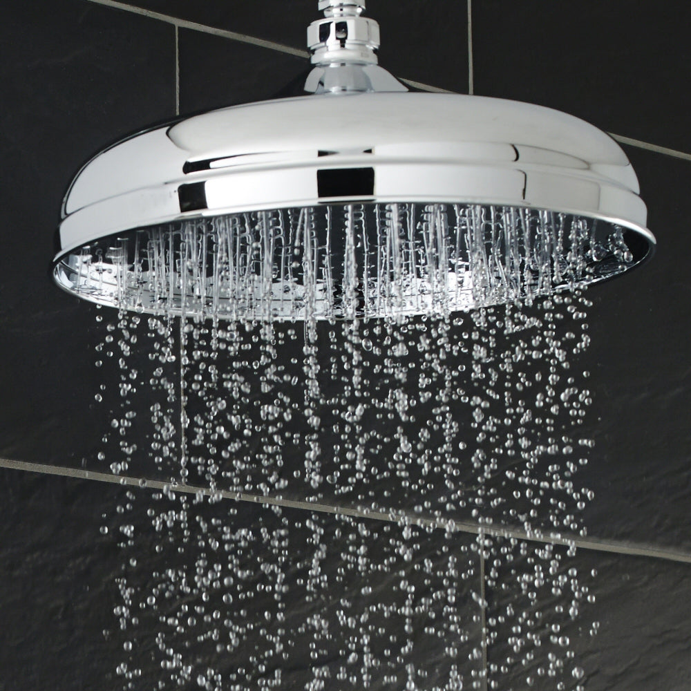 "Hudson Reed 8"" Apron Fixed Shower Head & Arm - Chrome"