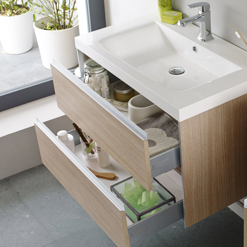 Hudson Reed - Erin Light Oak Basin & Cabinet W800 x D480mm - FEN001
