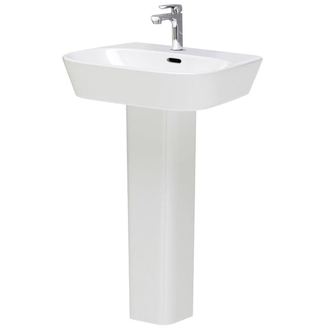 Hudson Reed Farnham 4 Piece Wall Hung Bathroom Suite - Wall hung toilet & 1TH Basin with Pedestal