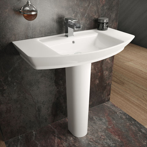 Hudson Reed Maya Basin 1TH + Full Pedestal (3 Size Options)