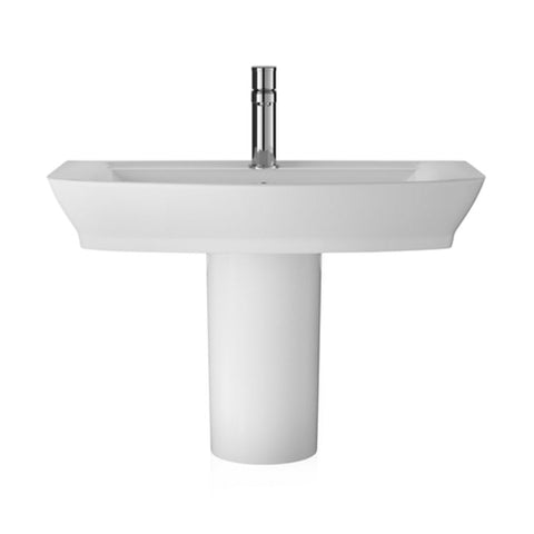 Hudson Reed Maya Basin 1TH + Semi Pedestal (3 Size Options)