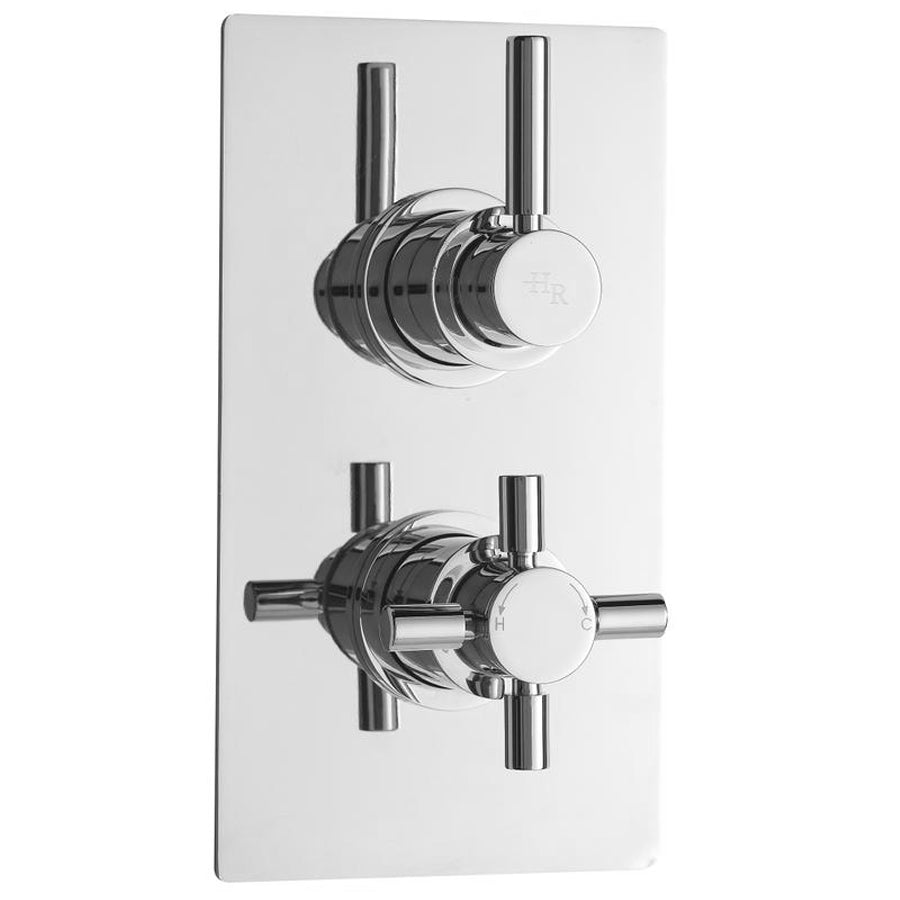 Hudson Reed Tec Pura Twin Concealed Thermostatic Shower Valve - A3003V