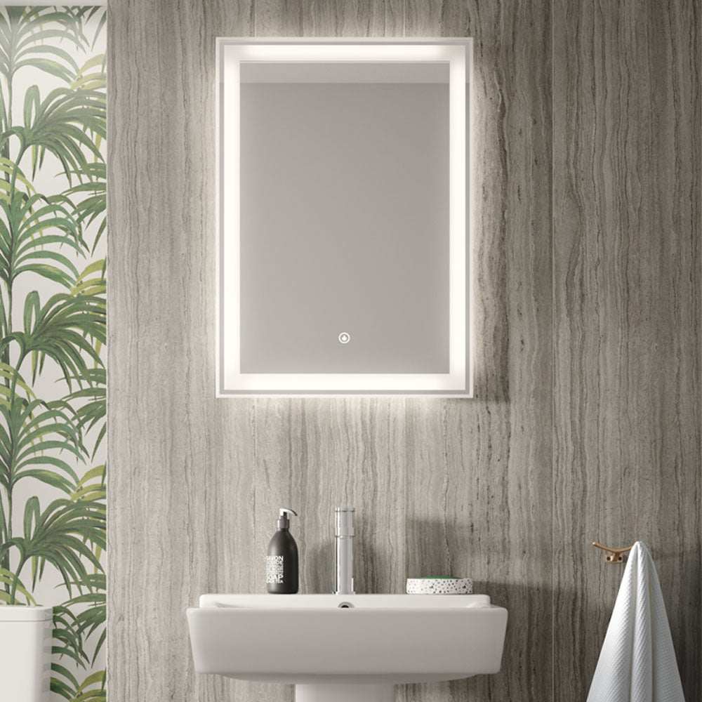 Hudson Reed Dazzle LED Touch Sensor Mirror with Demister Pad - LQ085