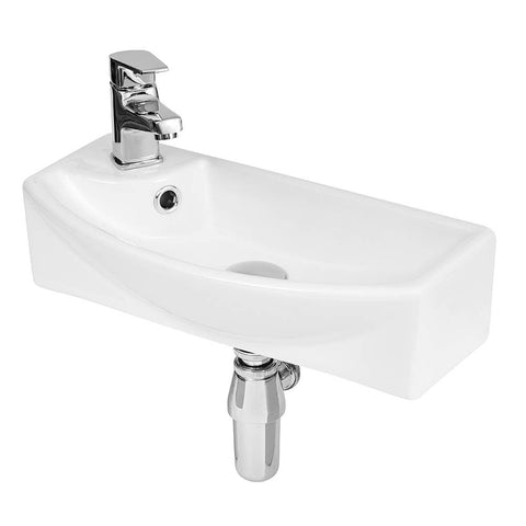 Hudson Reed 1TH Compact Wall Hung Basin (Left Hand) - NBV161