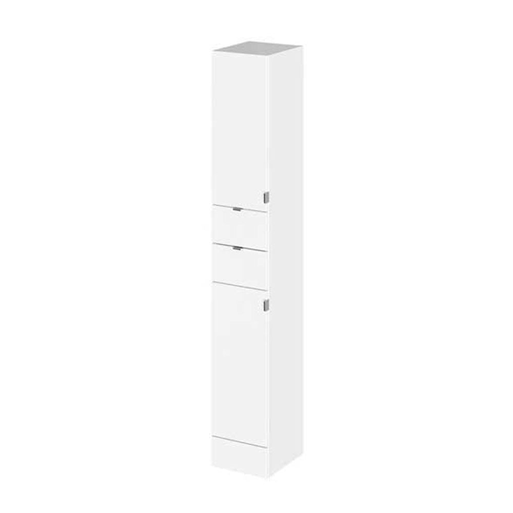 Hudson Reed 300x355mm Tall White Gloss Full Depth Tower Unit