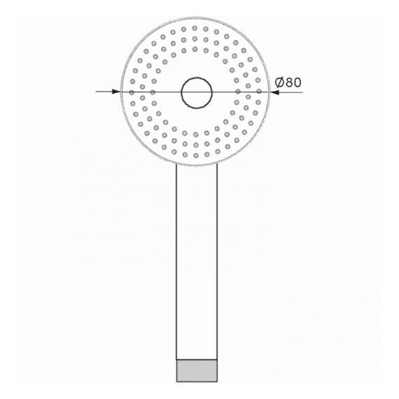 Pura Contemporary Single Function Shower Handset