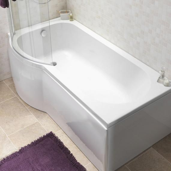 Pura Curve 1675mm Left Hand Shower Bath