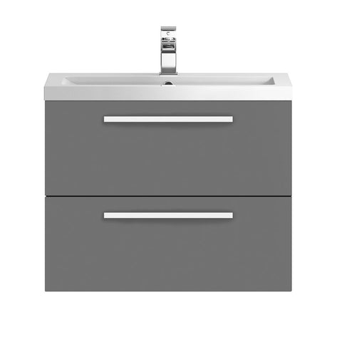 Hudson Reed 720mm Gloss Grey Modular Basin Vanity Unit